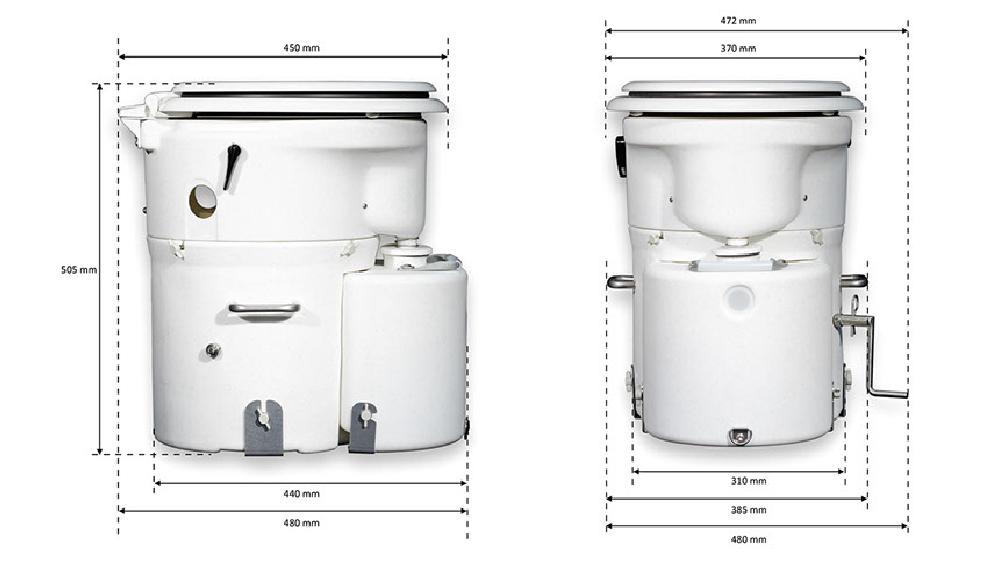 Maße Air Head Toilette Standard-Sitz