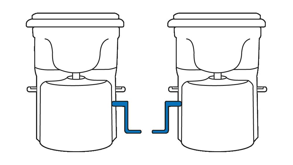 Vergleich Kurbelposition rechts oder links