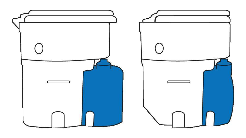 Vergleich 7l- und 3l-Urintank